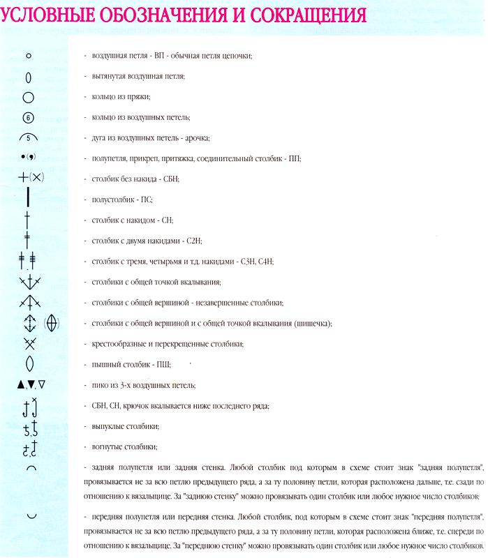 Обозначения вязания 90