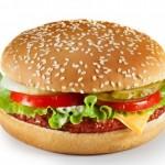 Бургер со слоеным тестом и окороком