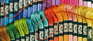 нитки для вышивания разных цветов