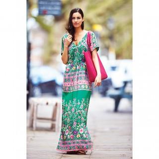 платье с крупным цветочным принтом
