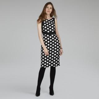 платье в крупный горох