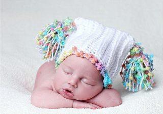 оригинальная шапочка для новорожденного